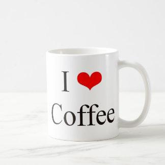 Amo el café taza básica blanca