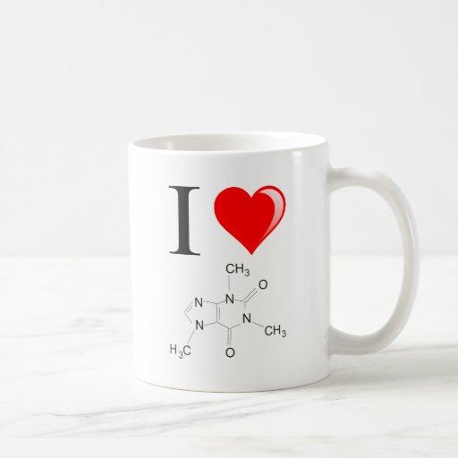 Amo el café taza de café