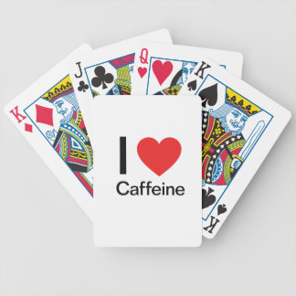 Amo el cafeína baraja cartas de poker