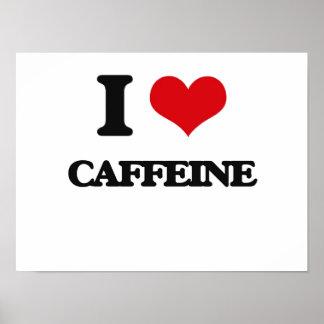 Amo el cafeína impresiones