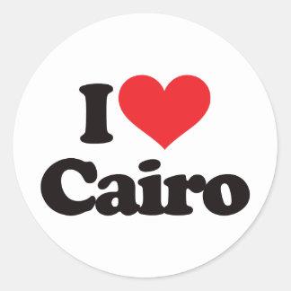 Amo El Cairo Pegatina Redonda