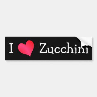 Amo el calabacín etiqueta de parachoque