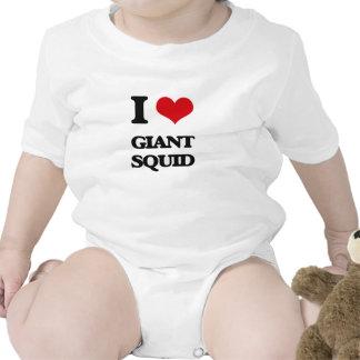 Amo el calamar gigante traje de bebé