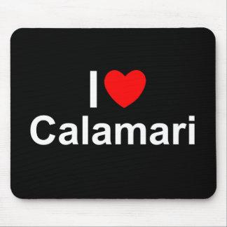 Amo el Calamari (del corazón) Alfombrillas De Ratón