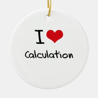 Amo el cálculo adorno redondo de cerámica
