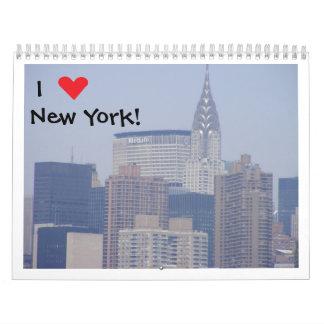Amo el calendario de Nueva York