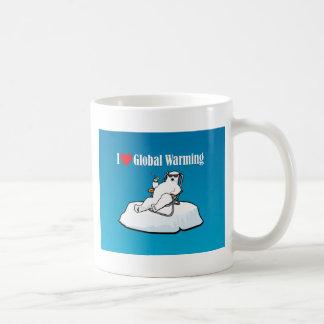 Amo el calentamiento del planeta tazas de café