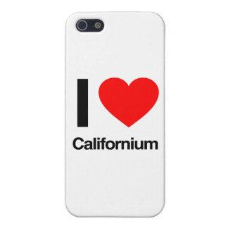 amo el californio iPhone 5 carcasas