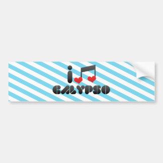 Amo el Calypso Etiqueta De Parachoque