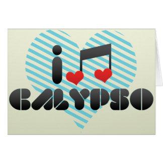 Amo el Calypso Tarjeta De Felicitación