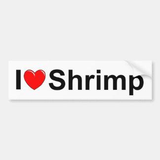 Amo el camarón (del corazón) pegatina para auto