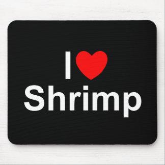 Amo el camarón (del corazón) tapete de ratones