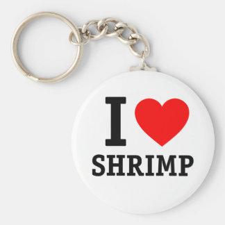 Amo el camarón llavero redondo tipo pin