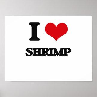 Amo el camarón póster