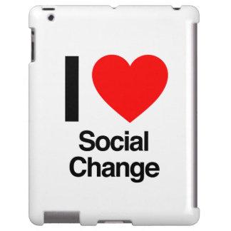 amo el cambio social funda para iPad