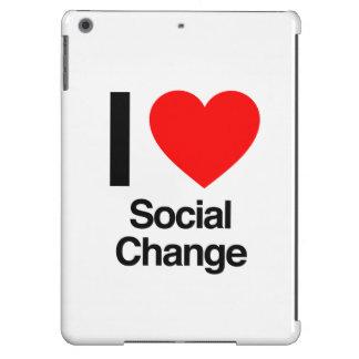 amo el cambio social funda para iPad air