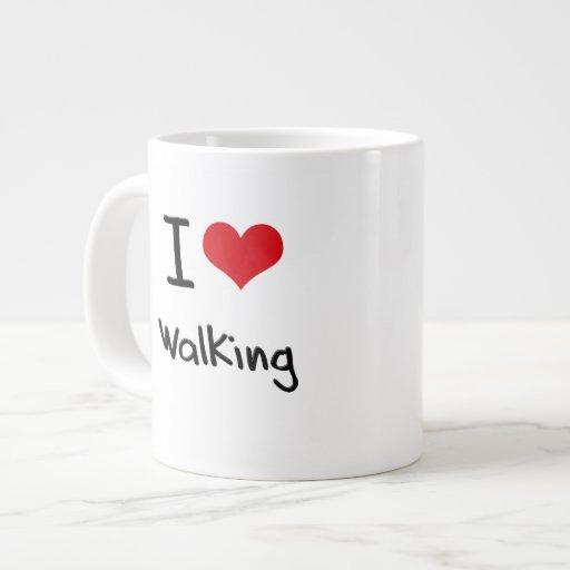 Amo el caminar tazas extra grande