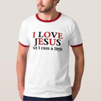 Amo el camisetas de Jesús [pero yo cuss un poco] Poleras