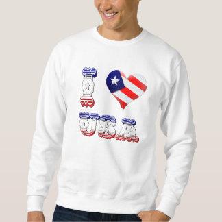 Amo el camisetas de los E.E.U.U. Pulovers Sudaderas