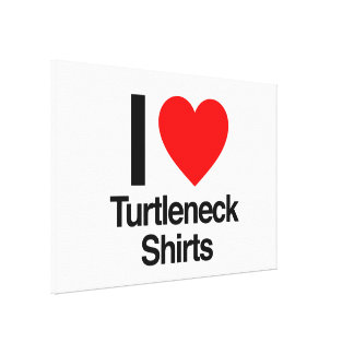 amo el camisetas del cuello alto lona estirada galerías