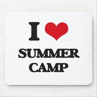 Amo el campamento de verano alfombrilla de ratón