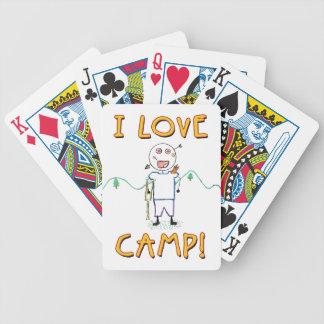 Amo el campo - campamento de verano divertido baraja de cartas bicycle