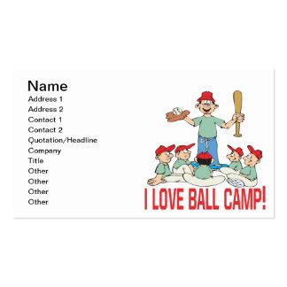 Amo el campo de la bola tarjeta de visita