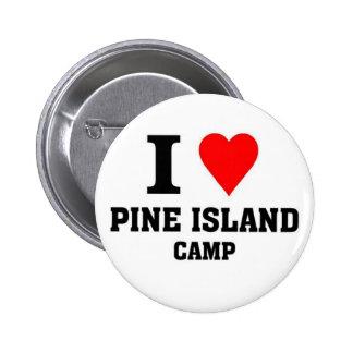 Amo el campo de la isla del pino pin redondo de 2 pulgadas