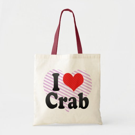 Amo el cangrejo bolsa tela barata