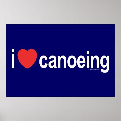 Amo el Canoeing Poster