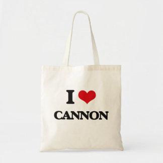 Amo el cañón bolsa tela barata