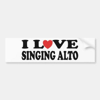 Amo el cantar del alto etiqueta de parachoque