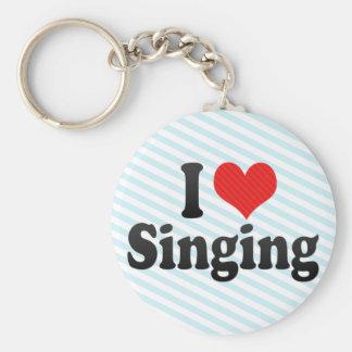 Amo el cantar llavero redondo tipo pin