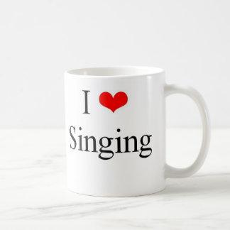 Amo el cantar taza básica blanca