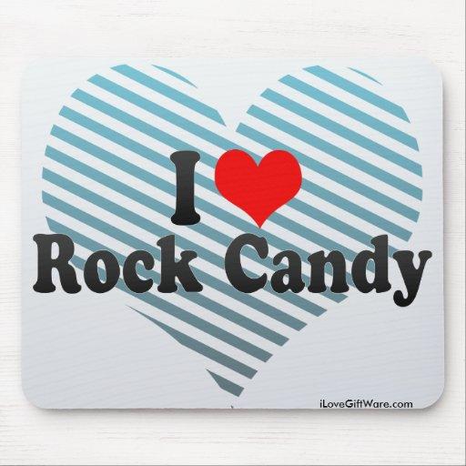 Amo el caramelo de roca alfombrillas de ratón