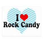 Amo el caramelo de roca postal