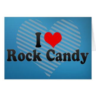 Amo el caramelo de roca tarjeta de felicitación