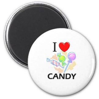 Amo el caramelo imán redondo 5 cm