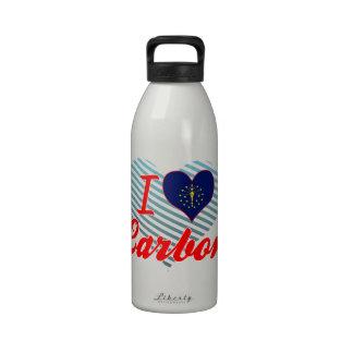 Amo el carbono, Indiana Botellas De Agua Reutilizables
