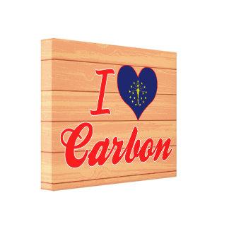 Amo el carbono Indiana Lona Envuelta Para Galerías