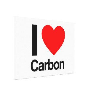 amo el carbono impresión de lienzo