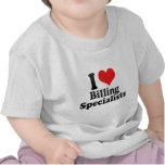 Amo el cargar en cuenta de especialistas camisetas