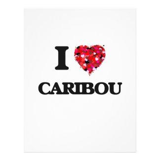 "Amo el caribú folleto 8.5"" x 11"""