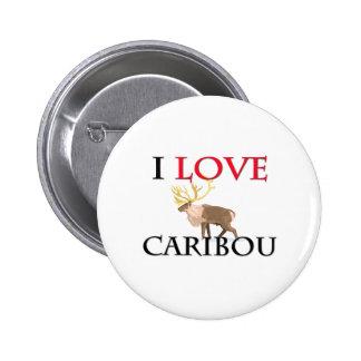 Amo el caribú pin