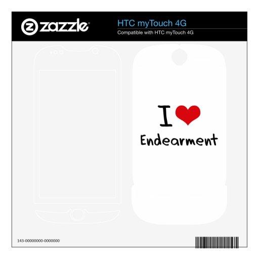 Amo el cariño HTC myTouch 4G calcomanías