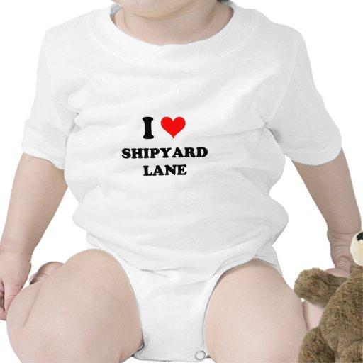 Amo el carril Massachusetts del astillero Traje De Bebé