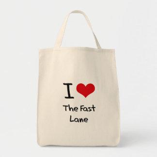 Amo el carril rápido bolsas