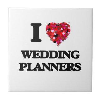 Amo el casar de planificadores azulejo cuadrado pequeño