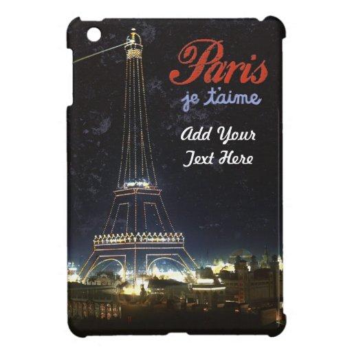 Amo el caso de Ipad del estilo del vintage de Parí iPad Mini Fundas