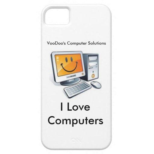 Amo el caso de IPhone de los ordenadores iPhone 5 Case-Mate Fundas